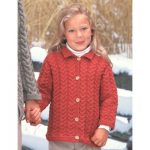 Patons Girl's Cuddly Cables Cardigan Free Knitting Pattern