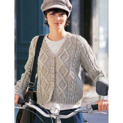 Patons Must Have Cardigan Cabled Knit Pattern Knitting Bee