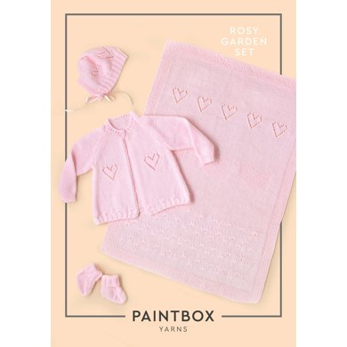 Rosy Garden Baby Layette Set Free Knitting Pattern Knitting Bee