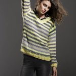 Shaded Stripes Sweater Free Knitting Pattern