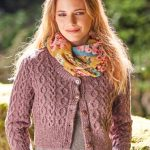 Skipness Cropped Aran Cardigan Free Knitting Pattern