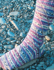 Spiral Sock Pattern Free Knitting Pattern