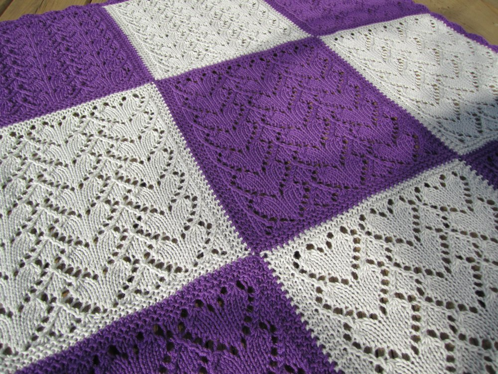 Sweethearts Baby Blanket Free Knitting Pattern