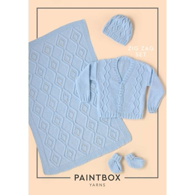 Zig Zag Set Baby Layette Set Free Knitting Pattern
