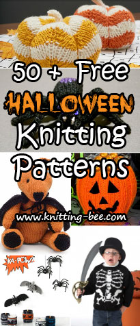 50+ Free knitting patterns for Halloween