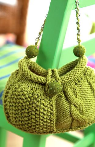 Audrey Cable Bag Free Knitting Pattern