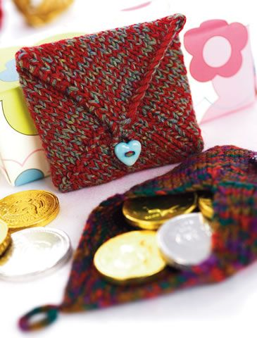 Penny Coin Purse Free Knitting Pattern