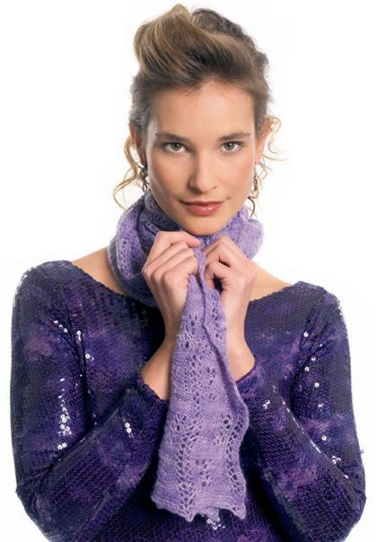 Miyu Lace Scarf Free Knitting Pattern