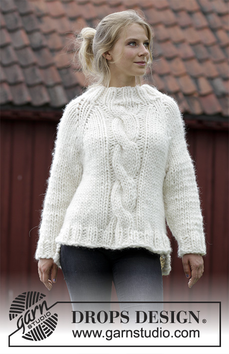 Mont Blanc Cable Sweater Free Knitting Pattern