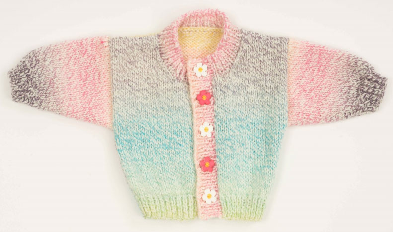 2 Ball Baby Sweater Free Baby Cardigan Knitting Pattern