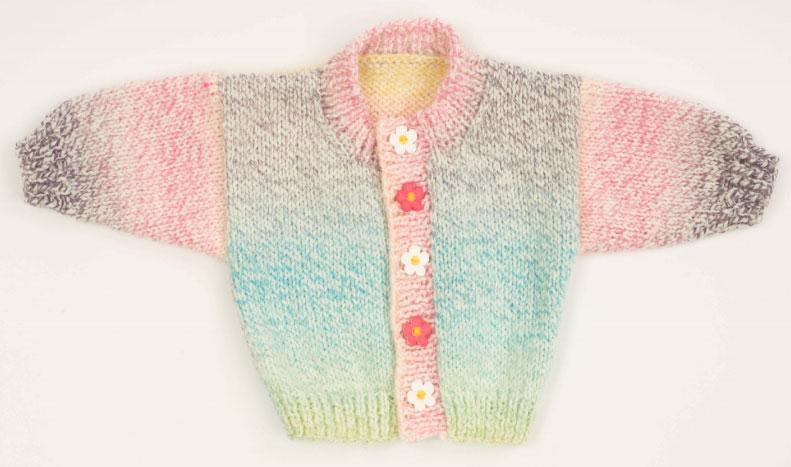 2 Ball Baby Sweater Free Baby Cardigan Knitting Pattern