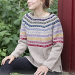 Rainbow Hugs Free Sweater Knitting Pattern