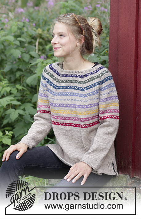 Rainbow Hugs Free Sweater Knitting Pattern