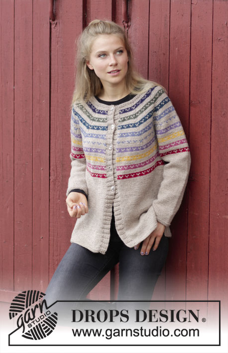 Rainbow Hugs Jacket Free Knitting Pattern