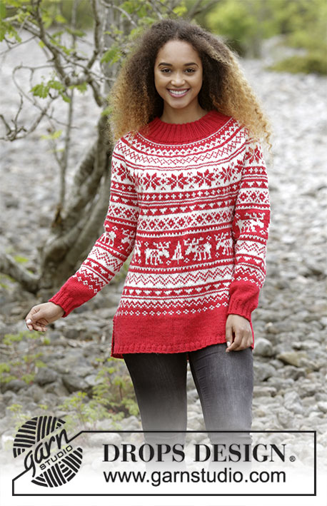 Season Greetings Free Christmas Sweater Knitting Pattern Knitting Bee