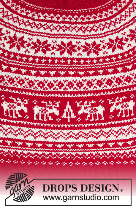 Season Greetings Free Christmas Sweater Knitting Pattern