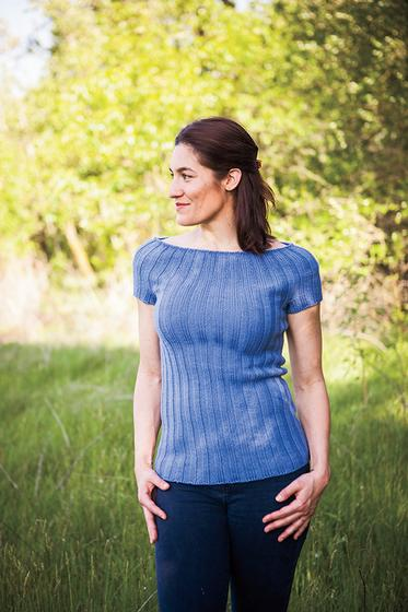 Audrey Ribbed Top Free Knitting Pattern