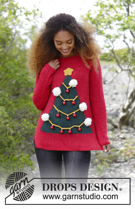 How To Be A Christmas Tree Free Sweater Knitting Pattern