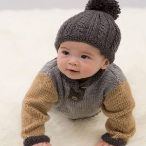 Handsome Sweater and Hat Free Baby Knitting Pattern