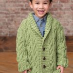 Kid's Cable Cardigan Free Knitting Pattern