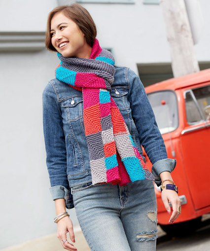 Miter Me This Chic Scarf Free Knitting Pattern