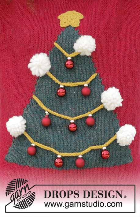 Easy Knitting Patterns For Kids : How To Be A Christmas Tree Free Sweater Knitting Pattern ? Knitting Bee