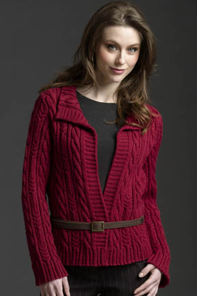 Allover Cable Cardigan Free Knitting Pattern