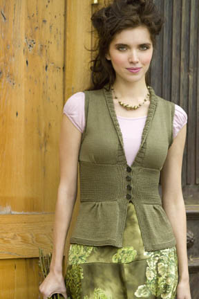 Antique Silk Vest Free Knitting Pattern