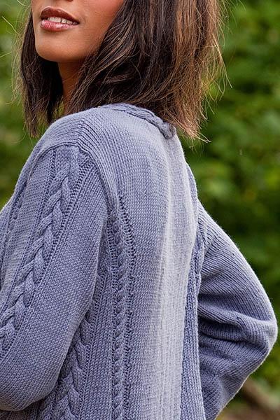 Babbling Brook Women's Cardigan Free Knitting Pattern