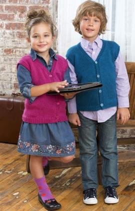 Back To School Vest Knitting Pattern