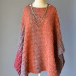 Banked Coals One-Size Poncho Free Knitting Pattern