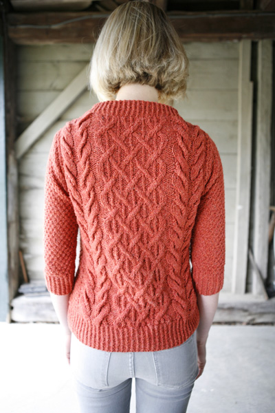 Beatnik Free Sweater Knitting Pattern with Cables