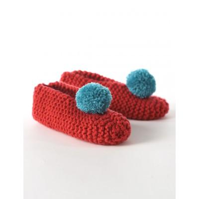 Bernat Men's & Lady's Slippers Free Knitting Pattern