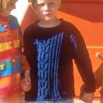 Boys Jumper with Cable Pattern Free Knitting