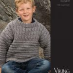 Cabled Boys Sweater Free Knitting Pattern