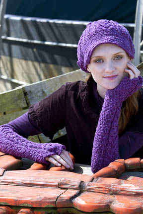 Cabled Helmet & Gauntlets Free Knitting Pattern