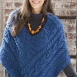 Cabled Poncho Knitting Pattern Free