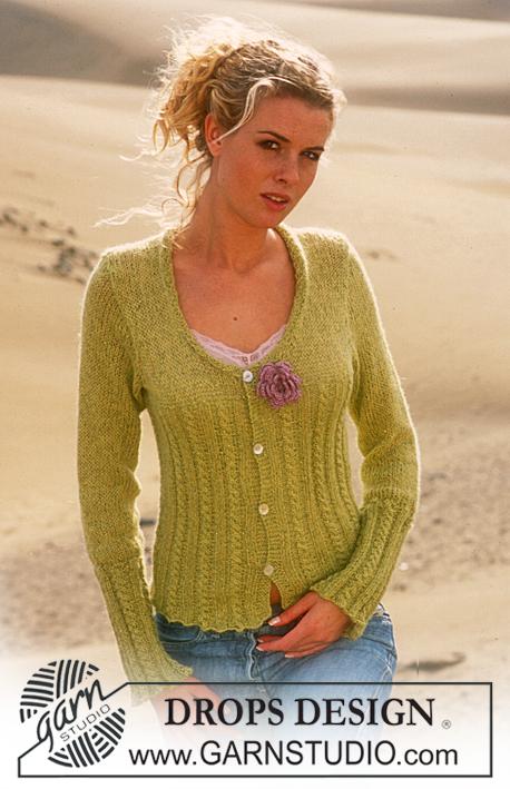 Cardigan in Alpaca with glitter free knitting pattern