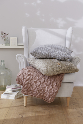 Chic Pillow and Blanket Free Knitting Patterns