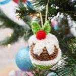 Christmas Pudding Ornament Free Christmas Knitting Pattern