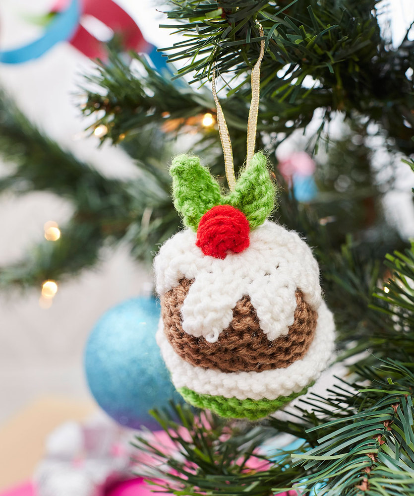 Christmas Pudding Ornament Free Christmas Knitting Pattern
