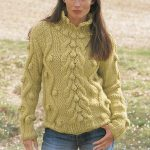 Chunky Cable Sweater Free Knitting Pattern