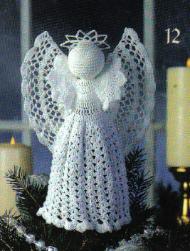 Classic Angel Tree Topper Free Crochet Pattern