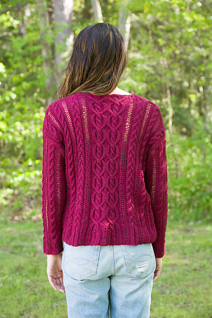 Coming and Going Pullover Free Knitting Pattern