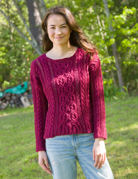 Coming and Going Pullover Free Knitting Pattern ? Knitting Bee