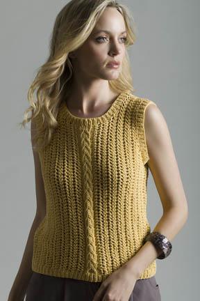Corn Silk Shell Top Free Knitting Pattern