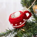Cup of Cocoa Ornament Free Christmas Knitting Pattern