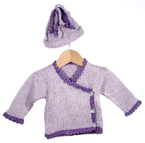 Cutie Patootie Baby Cardigan and Hat Free Knitting Pattern