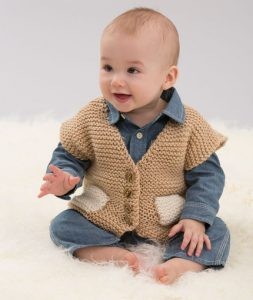 Easy Pocketed Vest Free Baby Knitting Pattern