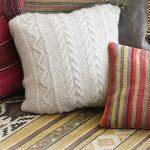Elegant Comfort Pillow Free Knitting Pattern